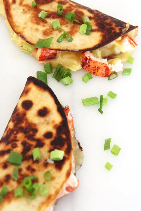 Lobster Quesadillas Recipe that is so juicy, cheesy, and decadent. This is a great recipe to impress someone you love. www.ChopHappy.com