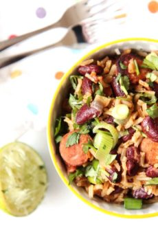 One Pot Chorizo Rice and Beans (perfect weeknight recipe)