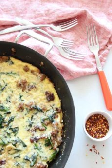 Sausage and Broccoli Rabe Frittata