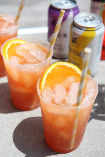 Beer Aperol Spritz Cocktail (vacation in a glass)