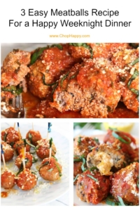 The Best 3 Meatball Recipes (easy dinner time ideas)