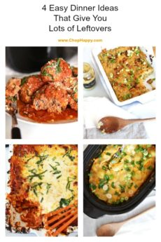 4 Easy Dinner Ideas That Give You Lots Of Leftovers. The recipes are easy #slowcooker, #lasagna, and #pasta yum.