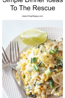 3 Simple Dinner Ideas To The Rescue. Busy weekday happy recipes. #dinner #simplerecipes