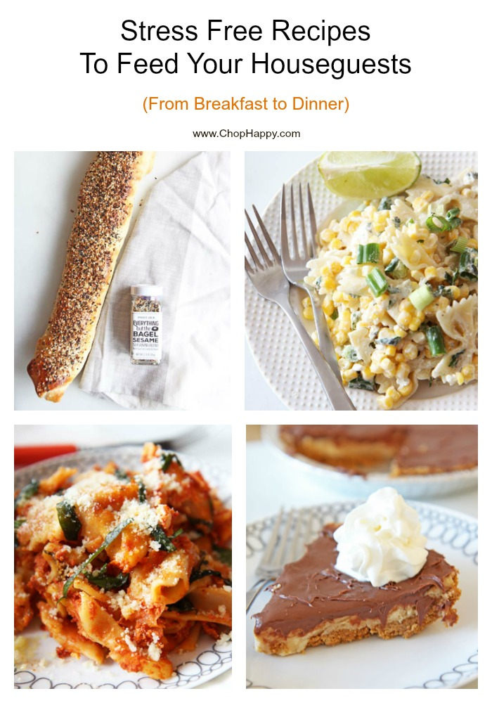 Stress Free Recipes To Feed Your Houseguests (From Breakfast to Dinner)