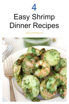 4 Easy Shrimp Recipes that are super easy weeknight fun. Happy Cooking! #shrimp #weeknightrecipe