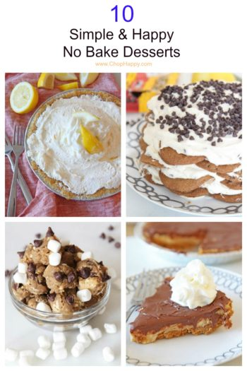 10 Simple & Happy No Bake Desserts