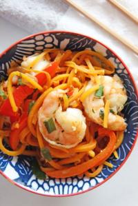 Shrimp Zoodles Lo Mein