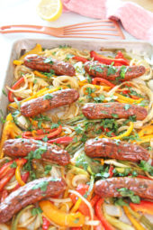 Sheet Pan Mexican Chicken Sausage and Peppers