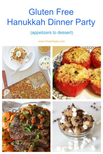 Gluten Free Hanukkah Dinner Party (appetizers to dessert)