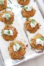 Cheesy Italian Chickpea Fritters (easy pantry recipe)