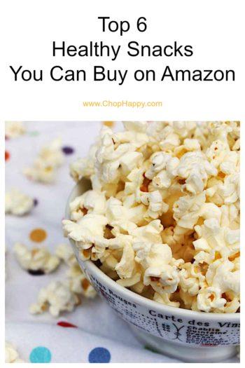 Top 6 Healthy Snacks You Can Buy on Amazon