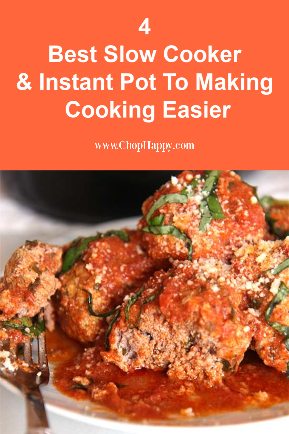 4 Best Slow Cookers / Instant Pots To Making Cooking Easier. Getting a instant pot, crock pot or slow cooker is life changing in the kitchen. It gives you more time to spend with your family. Make pasta, meatballs, or casseroles that are hot and waiting for you at dinner time. Happy Cooking! www.ChopHappy.com #slowcooker #instantpot
