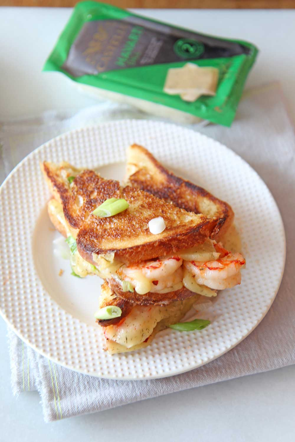 Shrimp and Dill Havarti Grilled Cheese