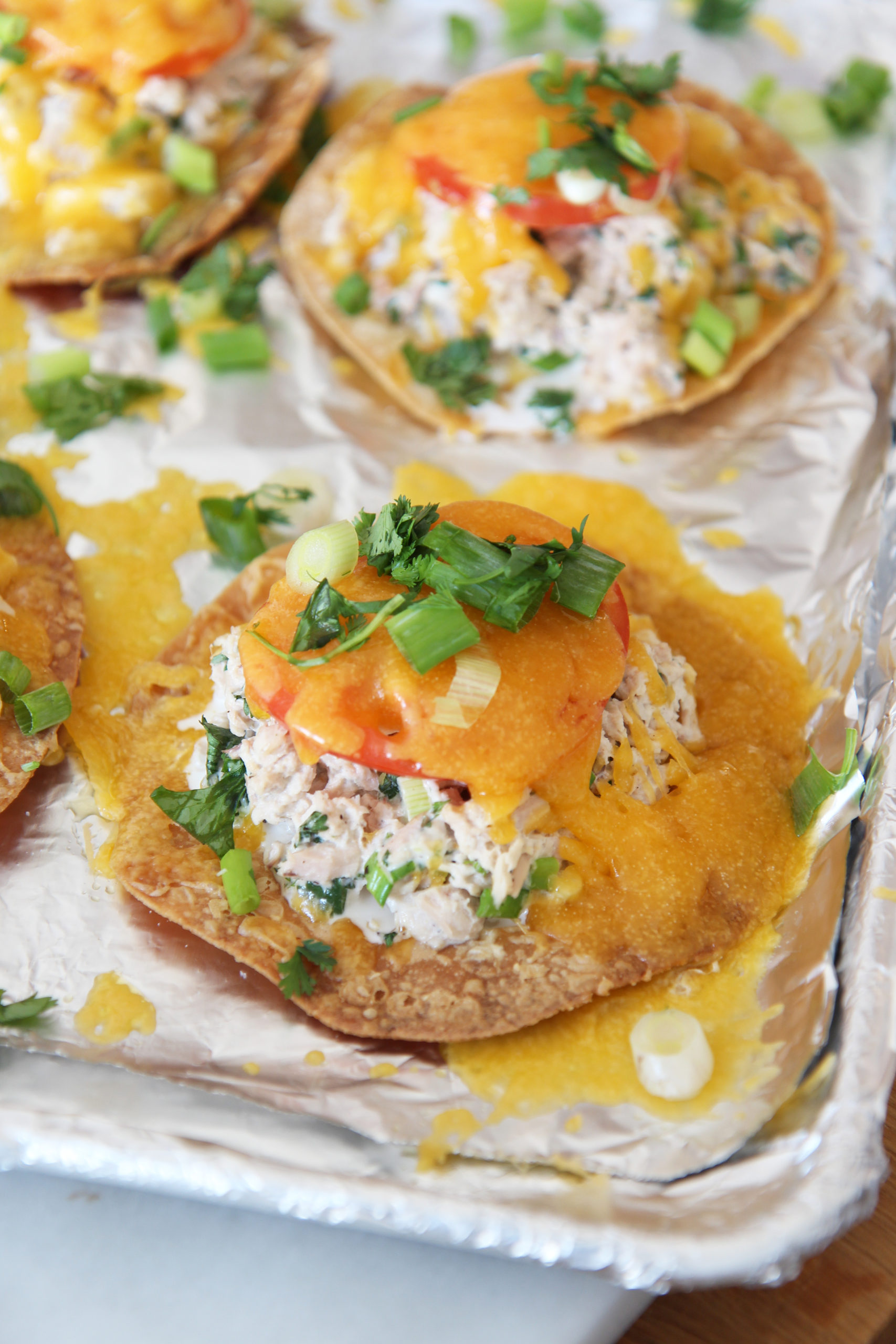 Cheesy Tuna Melt Tostadas