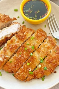 Potato Chip Crusted Pork Cutlet