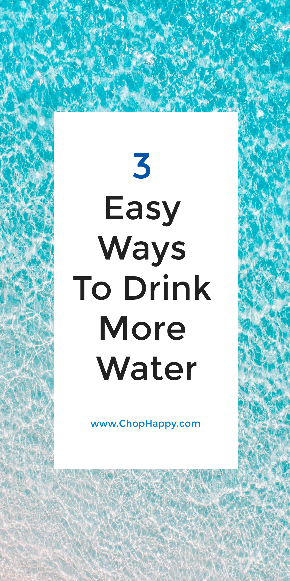 3 Ways to Drink More Water. Drinking more water is great for your health, helps you eat less, and helps you loose weight. Drink more water and be healthy with these 3 tools.