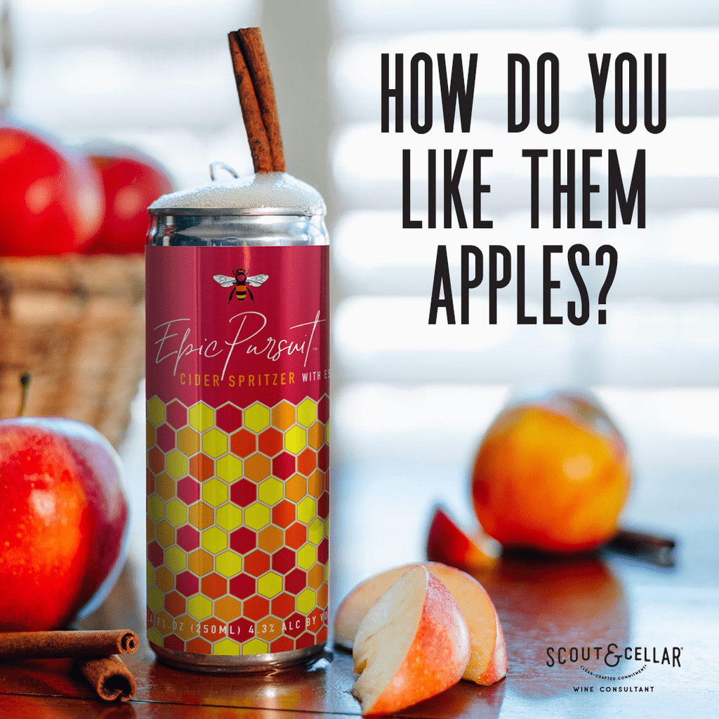 The Best Apple Cider to Drink On Thanksgiving! Bubbly refreshing crispy apple cider. The wine is organic and keto!