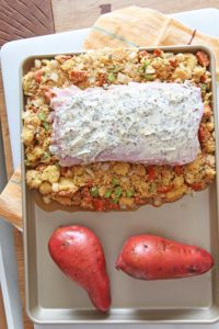 Thanksgiving Dinner on a Sheet Pan (Thanksgiving for 2). This thanksgiving is done cooking in 2 hours and less clean up because all done on a sheet pan. We will make cornbread chorizo stuffing, sweet potatoes with marshmallows, and roasted asparagus. The turkey will be the juiciest turkey with an amazing Thanksgiving hack. Happy Thanksgiving! www.ChopHappy.com #Thanksgivingdinner #bestturkeyrecipe