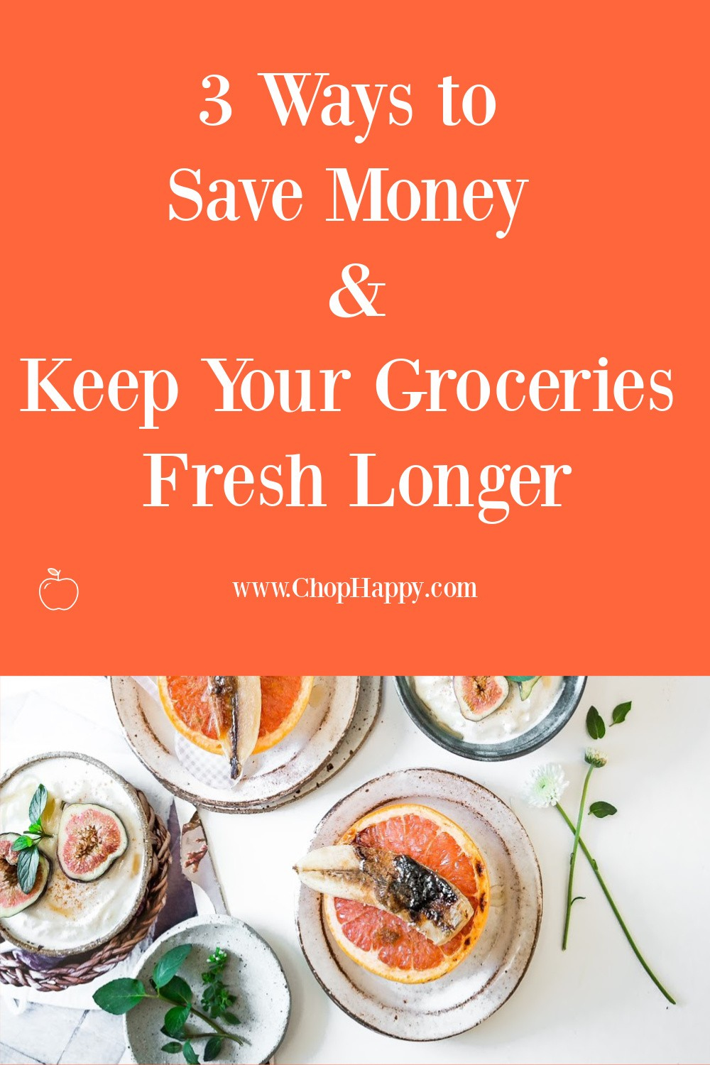 3 Ways to Save Money and Keep Your Groceries Fresh Longer. Here is 3 easy tools from Amazon that will make your veggies and meats last longer. www.ChopHappy.com #savemoney #veggies