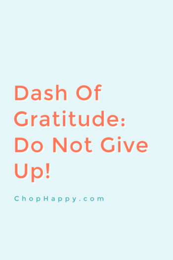 Dash Of Gratitude: Do Not Give Up On Your Dreams!