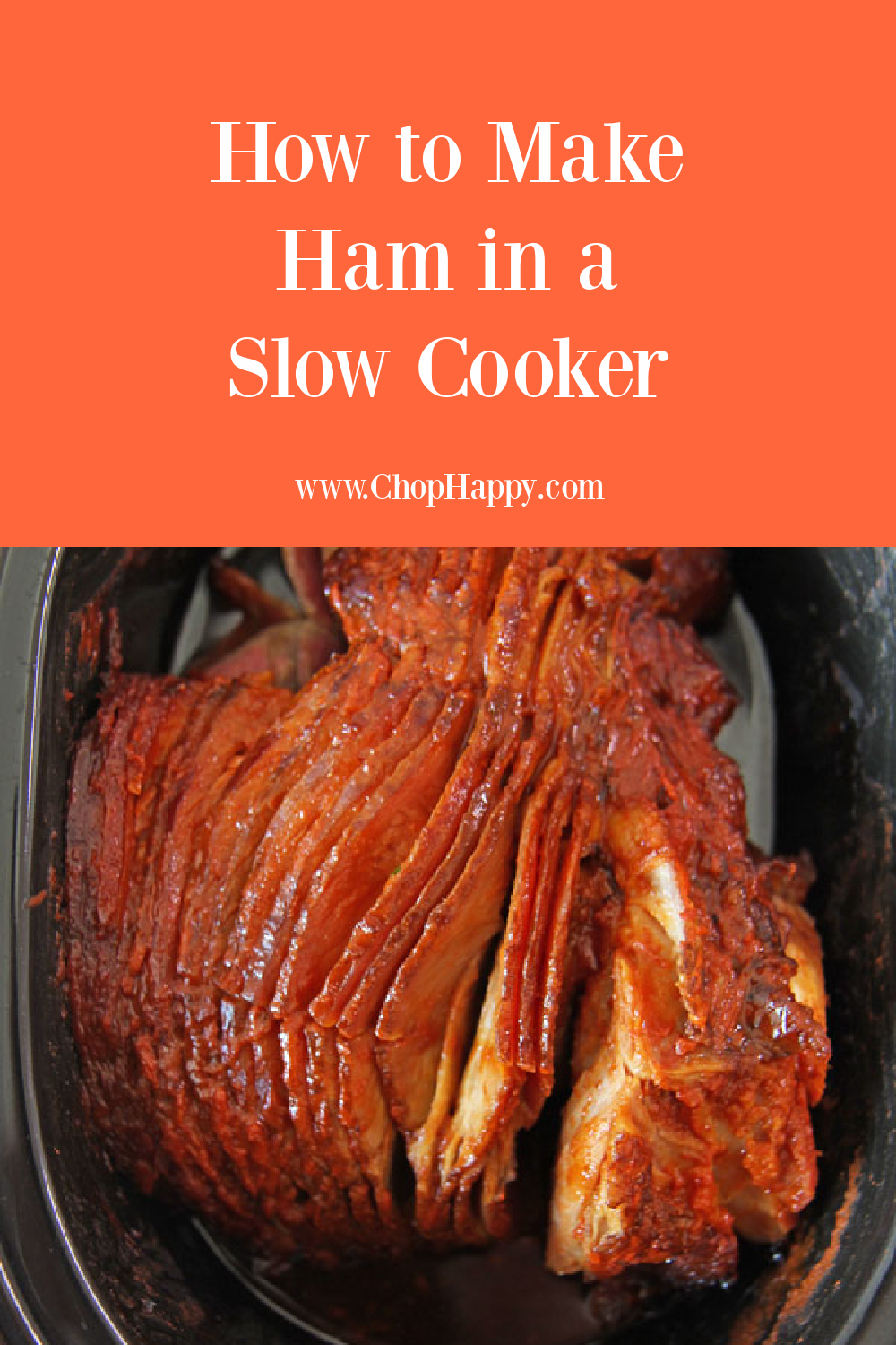 How To Make Ham in a Slow Cooker. With a serial ham, glaze, and slow cooker dinner is easy. I use honey and spicy sauce to glaze the ham for the holidays, Christmas dinner, Easter, or weeknight dinner. Happy Slow Cooker Cooking! #hamrecipes #slowcookerrecipes