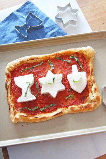 Hanukkah Puff Pastry Pizza