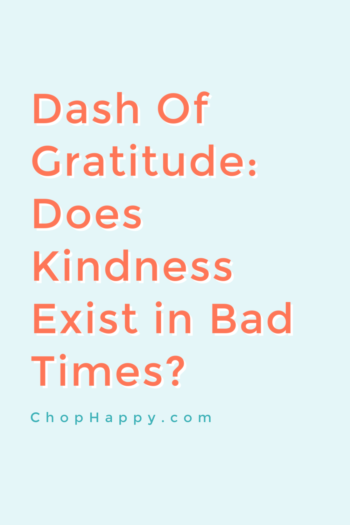 Dash of Gratitude: Does Kindness Exist In Bad Times
