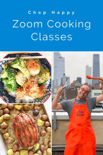 Book a Fun Zoom Cooking Class/ Chop Happy
