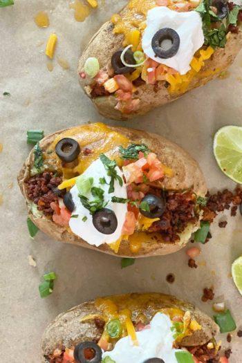 Easy Cheesy Baked Potato Tacos
