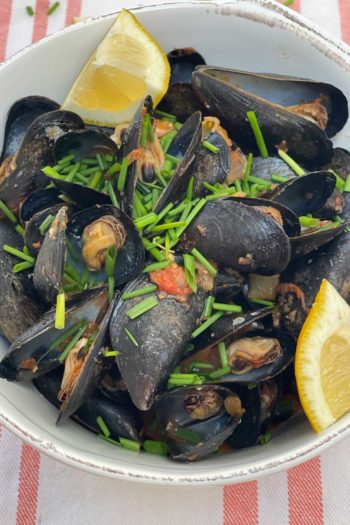 3 Ingredient Mussels with Amatriciana Sauce