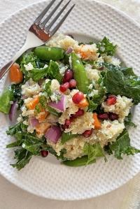 Crunchy Quinoa Salad with Lemon Lime Vinaigrette