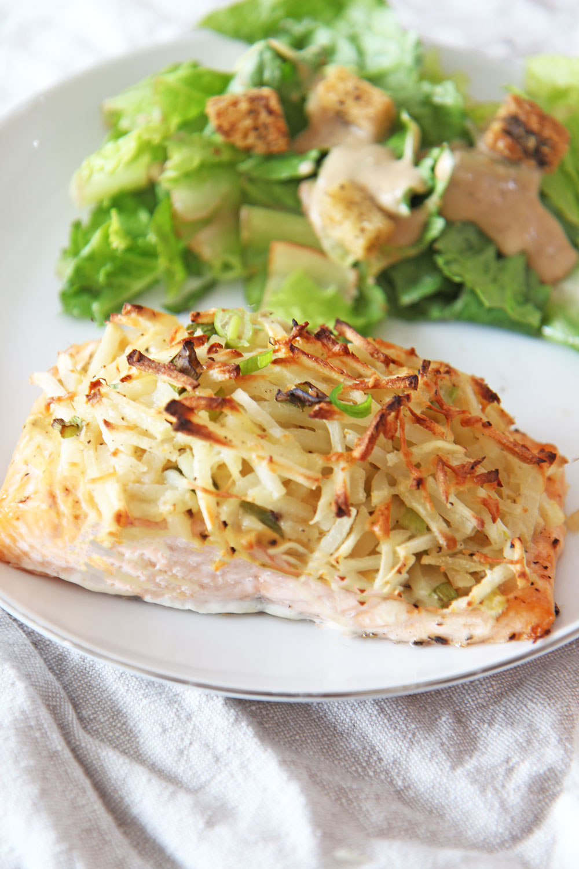 Latke Crusted Salmon