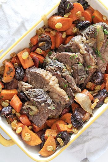 Tzimmes Beef Pot Roast (Slow Cooker Holiday Recipe)